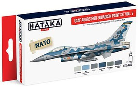 Hataka Red Line (Airbrush-Dedicated)- USAF Aggressor Sq. F15/16 Fleet Vol.2 Paint Set (6 Colors) 17ml Bottles