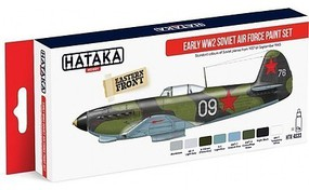 Hataka Red Line (Airbrush-Dedicated)- Early WWII Soviet AF 1937-43 Paint Set (8 Colors) 17ml Bottles