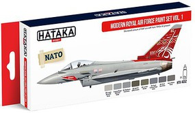 Hataka Red Line (Airbrush-Dedicated)- Modern RAF 1990s-Present Vol.1 Paint Set (8 Colors) 17ml Bottles