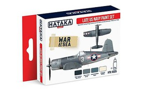 Hataka Red Line (Airbrush-Dedicated)- Late USN 1943-45 Camouflage Paint Set (4 Colors) 17ml Bottles