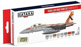 Hataka Red Line (Airbrush-Dedicated)- Israeli AF Modern Jets Since Late 1970s Paint Set (8 Colors) 17ml Bottles
