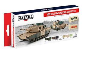 Hataka Red Line (Airbrush-Dedicated)- Modern US Army & USMC AFV Since Mid 1980s Paint Set (8 Colors) 17ml Bottles