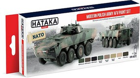 Hataka Red Line (Airbrush-Dedicated)- Modern Polish Army AFV Since 2000s Paint Set (8 Colors) 17ml Bottles