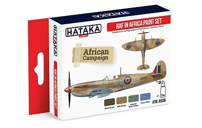 Hataka Hobby Red Line (Airbrush-Dedicated)- RAF in Africa Camouflage Paint Set (4 Colors) 17ml Bottles