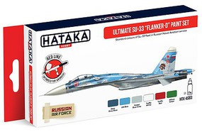 Hataka Red Line (Airbrush-Dedicated)- Ultimate Su33 Flanker-D Russian Naval Aviation Service Paint Set (6 Colors) 17ml Bottles