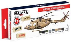 Hataka Red Line (Airbrush-Dedicated)- British Army Air Corps Helicopters Since 1970s Paint Set (8 Colors) 17ml Bottles