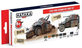 Hataka Red Line (Airbrush-Dedicated) Early WWII German AFV 1923-43 (8 Colors)