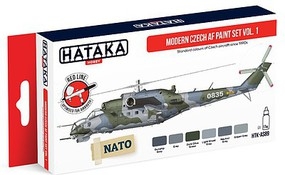 Hataka Red Line (Airbrush-Dedicated) Modern Czech AF Since 1990s Vol.1 (6 Colors)