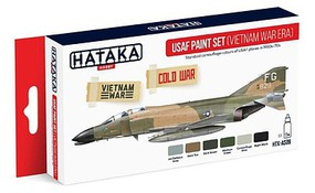 Hataka Red Line (Airbrush-Dedicated)- USAF Vietnam War Era 1960s-70s Camouflage Paint Set (6 Colors) 17ml Bottles