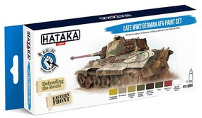 Hataka Blue Line (Brush-Dedicated)- Late WWII German AFV 1943-45 Paint Set (8 Colors) 17ml Bottles
