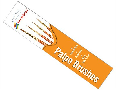 Humbrol Enamel Paints 000/0/2/4 Palpo Sable Brush Pack