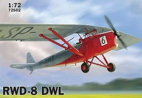 IBG RWD-8 DWL Polish Trainer Plane (Civilian) Plastic Model Airplane Kit 1/72 Scale #72502