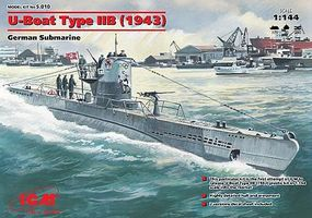 ICM U-Boat Type IIB German Submarine 1943 Plastic Model Submarine Kit 1/144 Scale #10