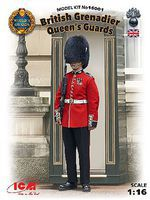 ICM British Queens Guards Grenadier Plastic Model Military Figure Kit 1/16 Scale #16001