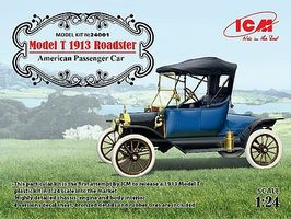 ICM Model T 1913 Roadster American Passenger Car Plastic Model Car Kit 1/24 Scale #24001