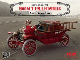 ICM American Model T 1914 Fire Truck (New Tool) Plastic Model Truck Kit 1/24 #24004