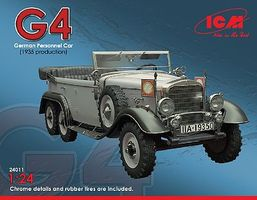 ICM Type G4 1935 Production German Personnel Car Plastic Model Military Staff Car 1/24 #24011