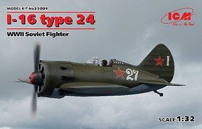 ICM WWII Soviet I16 Type 24 Fighter (New Tool) Plastic Model Airplane Kit 1/32 Scale #32001