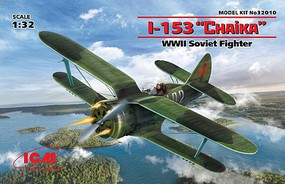ICM WWII Soviet I153 Chaika Fighter (New Tool) Plastic Model Airplane Kit 1/32 Scale #32010