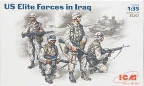 ICM US Elite Forces Iraq (4) Plastic Model Military Figure 1/35 Scale #35201