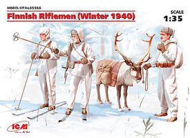ICM Finnish Riflemen Winter 1940 (New Tool) Plastic Model Military Figure Kit 1/35 Scale #35566