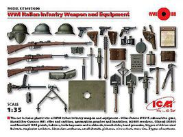 ICM WWI Italian Infantry Weapons & Equipment Plastic Model Weapon 1/35 Scale #35686