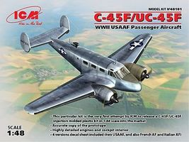 ICM C-45F/UC45 USAAF Plastic Model Airplane Kit 1/48 Scale #48181