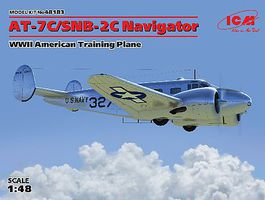 ICM WWII AT7C/SNB2C Navigator American Trainer Plastic Model Airplane Kit 1/48 Scale #48183