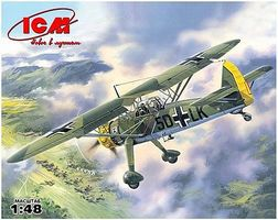 ICM WWII Hs126A1 German Recon Aircraft Plastic Model Airplane Kit 1/48 Scale #48211