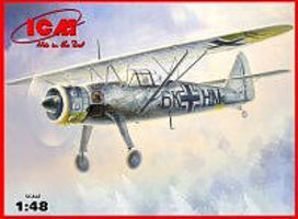 ICM Hs126B1 WWII German Recon Aircraft Plastic Model Airplane Kit 1/48 Scale #48212
