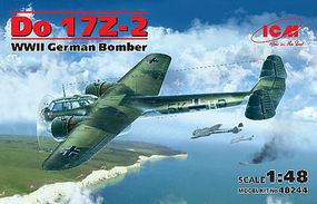 ICM WWII Do17Z2 German Bomber (New Tool) Plastic Model Airplane Kit 1/48 Scale #48244