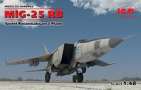 ICM MiG25RB Soviet Recon Aircraft Plastic Model Airplane Kit 1/48 Scale #48902