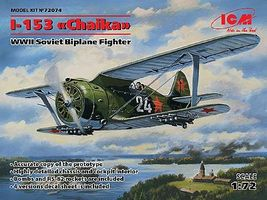 ICM I153 Chaika WWII Soviet BiPlane Fighter Plastic Model Airplane Kit 1/72 Scale #72074