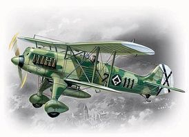 ICM Heinkel He51B1 Spanish Air Force BiPlane Fighter Plastic Model Airplane Kit 1/72 #72191