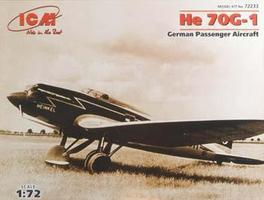 ICM He70G1 German Passenger Aircraft Plastic Model Airplane Kit 1/72 Scale #72233