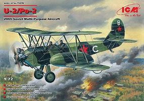 ICM WWII U2/Po2 Soviet Multi-Purpose Aircraft Plastic Model Airplane Kit 1/72 Scale #72242