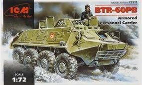 ICM BTR60PB Armored Personnel Carrier Plastic Model Personnel Carrier Kit 1/72 Scale #72911