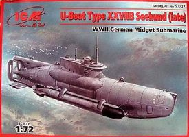ICM U-Boat Type XXVIIB Seehund German Midget Submarine Plastic Model Submarine Kit 1/72 #7