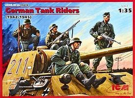 ICM German Tank Riders 1942-1945 Plastic Model Military Figure 1/35 Scale #35634