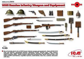 ICM WWI Russian Weapons/Equipment Plastic Model Military Weapons 1/35 Scale #35672