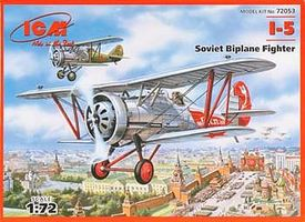 ICM I5 Soviet BiPlane Fighter Plastic Model Airplane Kit 1/72 Scale #72053