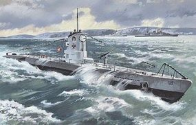 ICM U-Boat Type IIB 1939 Plastic Model Submarine Kit 1/144 Scale #s009