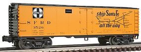 Industrail-Rail Reefer 3-Rl ATSF #3526 - O-Scale