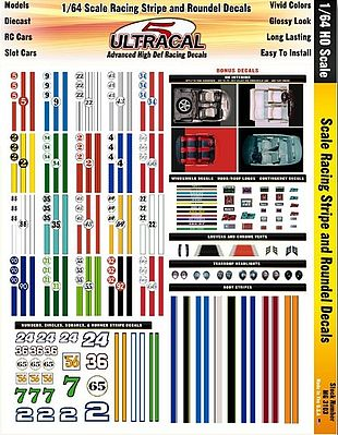 Innovative hobby supply 1 64 ultracal hi def decals racing stripes roundels