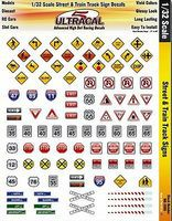 Innovative 1/32 UltraCal Hi-Def Decals- Street & Train Track Signs Slot Car Decal #3350