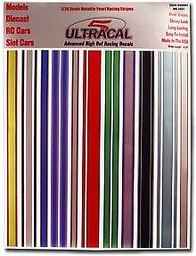 Innovative Hobby Supply 1/24 UltraCal Hi-Def Decals- Metallic Pearl Racing Stripes -- Slot Car Decal -- #3407