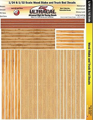 Innovative Hobby Supply 1/24 & 1/32 UltraCal Hi-Def Decals- Wood Stake & Truck Bed -- Slot Car Decal -- #3410