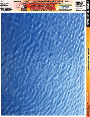 Innovative Hobby Supply Multi-Scale SkinZ PhotoReal Decals- Water Ripple Effect -- Slot Car Decal -- #3812