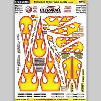 Innovative 1/24 UltraCal Hi-Def Peel & Stick Decals- Airbrushed Styled Flames Slot Car Decal #64082