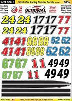 Innovative 1/24 Peel & Stick Decals- Stock Car Racing Number Yellow/Black/Red/Green Slot Car Decal #64402